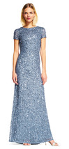 Adrianna Papell New Womens Nile Scoop Back Sequin Gown Formal Dress   16 - $226.71
