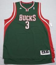 M126 New ADIDAS Milwaukee Bucks Brandon Jennings Green SWINGMAN Jersey M... - $69.25