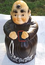 Vintage Ceramic Friar Cookie Jar : Thous Shalt Not Get Fat - $9.75
