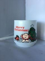 Tom Wilson ZIGGY Merry Christmas  1978 White Glass G - $8.90