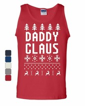 Daddy Claus Funny Santa Tank Top Christmas Xmas Ugly Sweatshirt - $9.07+