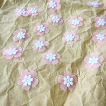 Tiny Cherry Blossom,Artificial Flowers,Miniature Applique,Sewing,Doll Ma... - $8.50
