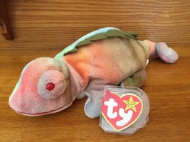 TY Beanie Baby - IGGY the Iguana Chameleon - Born 8/12/1997 MINT with TAGS - $8.59