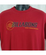 Billabong Red Mens Large Tee Shirt Short Sleeve Graphic Vintage Made in USA - $29.99