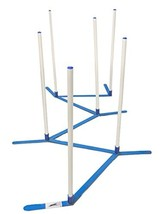 Agility Weave Poles Adjustable 6 Pole Set with Carrying Case and Grass S... - $76.42