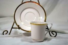 Spode Golden Eternity Demitasse Cup And Saucer Set #8186 EUC - $13.85