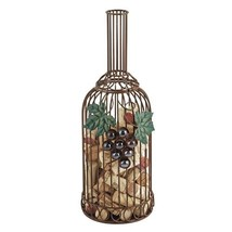 Wine Cork Holder, Wrought Iron Grapevine Decorative Metal Rustic Cork Ho... - $33.49