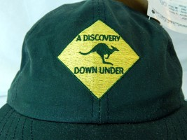 A Discovery Down Under New W Tags Waxed Oil Cloth Oilskin Hat Green Aust... - $22.76