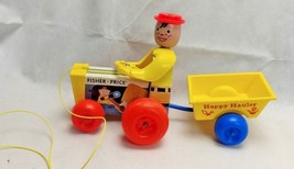Vintage Fisher Price 1967 Happy Hauler Wooden & Plastic Pull Toy  No 732 - $14.99