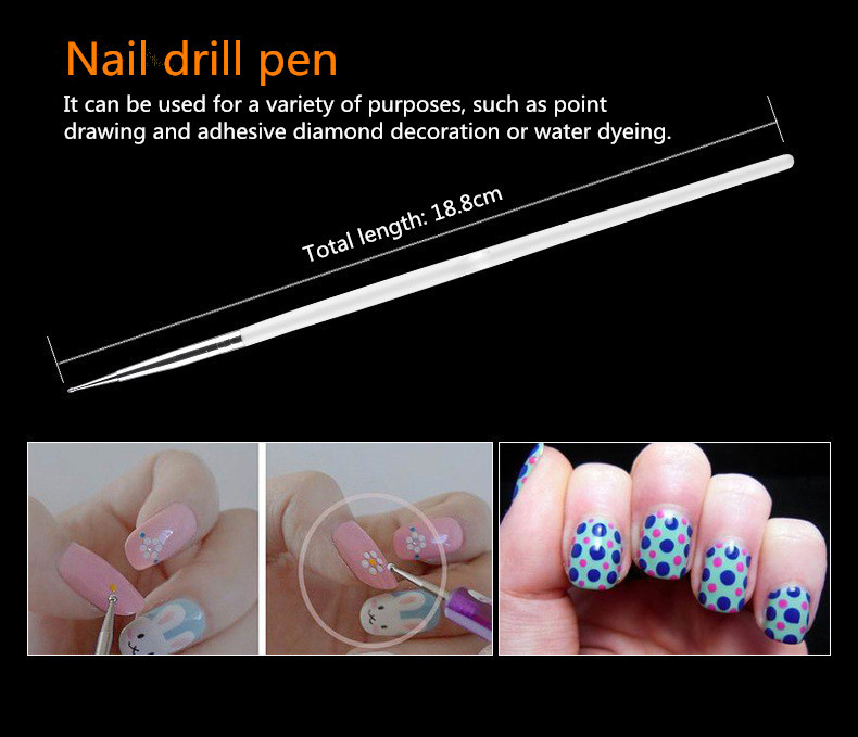 15 PCS Variety Function Toe Nail Art Pen Painting Nail Brush Nail Art Tool