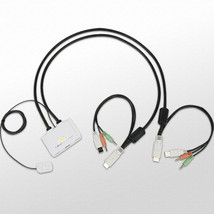 Uniclass UDV-TA2 2-Port Slim USB KVM Switch 1920x1200 DVI Cable All-in-o... - $98.99