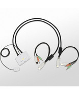 Uniclass UDV-TA2 2-Port Slim USB KVM Switch 1920x1200 DVI Cable All-in-o... - $82.16