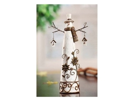 Resin Snowman with Birdhouses - $24.95