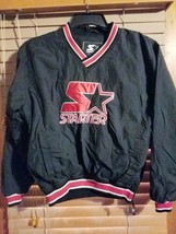Vintage Starter Youth L Large Pullover Jacket Red Black Star Side Zipper... - $24.98