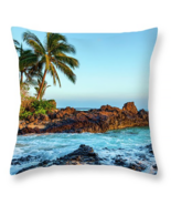Paako or Secret Beach in Maui, Throw Pillow, fine art, home decor, accen... - $41.99 - $69.99