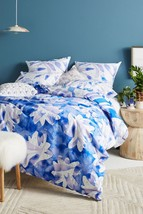 Anthropologie Painted Indigo Duvet Cover KING by Kate Roebuck - NWT - $168.29