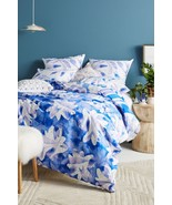Anthropologie Painted Indigo Duvet Cover KING by Kate Roebuck - NWT - $144.49