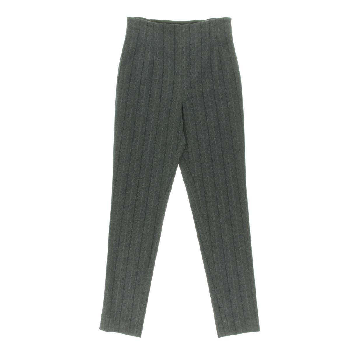 Catherine Malandrino Womens Gray Wool Blend Skinny Leg Dress Pants Size 4