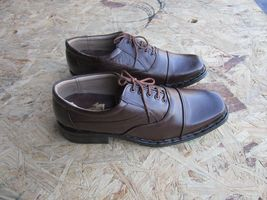DRESS SQUARE LEATHER TOE MENS 9 FORMAL LINING OXFORD LACE UP SHOES CASUAL BROWN FT7UTwfxq