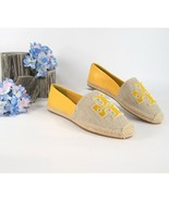 Tory Burch Ines Fil Coupe Goldfinch Leather Espadrille Flats 10 NIB - $172.76