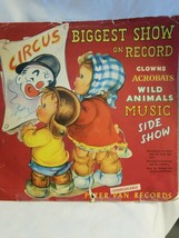 "Peter Pan Record Circus BIGGEST SHOW ON RECORD 10"" 78 RPM 1949 - $6.88"