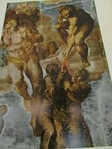Vintage Michelangelo The Last Judgement Judgment Color Print 51665 Resur... - $24.74