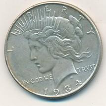 1934 PEACE SILVER DOLLAR-BEAUTIFUL LIGHTLY CIRCULATED DOLLAR-SHIPS FREE!... - $79.95