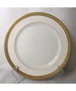 Lenox Green Mark Ivory Dinner Plate for Hutzler Baltimore Thick Embossed Gold - $14.84