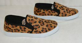 Soho Girls Jerry 2 Leopard Flat Rubber Sole Slip On Comfort Sneakers Size 8 Half image 3