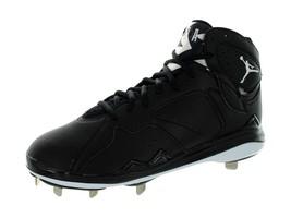 Nike Air Jordan 7 Retro Metal Baseball Cleats Black White SZ 12 684943-010 nwob - $84.06