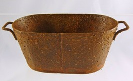 NEW Town Square Miniatures Dollhouse Miniature Oval Rusty Wash Tub 1:12 ... - $5.95