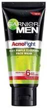 Garnier AcnoFight 6 in 1 Pimple Clearing Face Wash For Men 100gm Free Shipping - $7.90