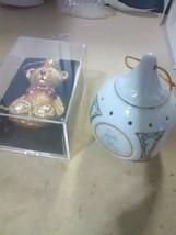 2 Christmas Ornaments - Glass Bear & Precious Moments 1990 Butcher - £2.80 GBP