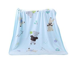 Blue Bear Microfiber Baby Washcloth, 75 by 140 cm