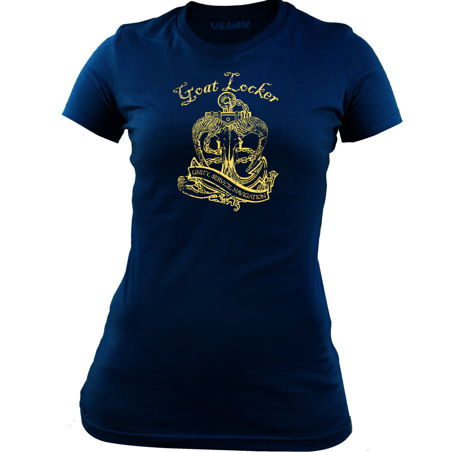Primary image for Women's Navy Goat Locker Chief CPO T-Shirt