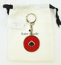 Kate Spade Enamel Red Key Chain Ring Fob Bag Charm New $59 NWT - $19.79