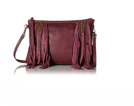 Jessica Simpson Blair Convertible Clutch Cross-body Bag Maroon - $59.39