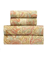 Traditions by Waverly Paddock Shawl Persimmon Sheet Sheets Set Queen Siz... - $87.81