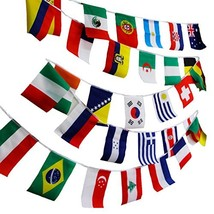 """NAVAdeal 50 8""""x10"""" Assorted World Flags Banner, Olympic Games Party Even... - $13.29"""