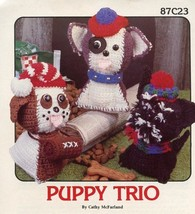 Puppy Trio 3 Dogs Annie's Pattern Club Crochet ... - $6.27