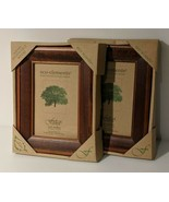 2 Picture Frames Eco-Elements Fetco Mahogany Made w/ Renewable Wood Eco ... - $29.39