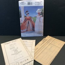 Vogue Craft Fashion Doll Sewing Pattern 9867 645 Historical Clothes 11.5... - $12.27
