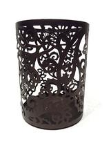 "Better Homes Gardens Candle Jar Holder Pillar 5.5"" Tall Metal Brown Bron... - $14.56"