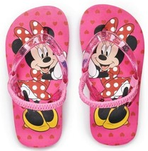 MINNIE MOUSE DISNEY Flip Flops w/ Optional Sunglasses Toddlers Beach San... - $10.37+