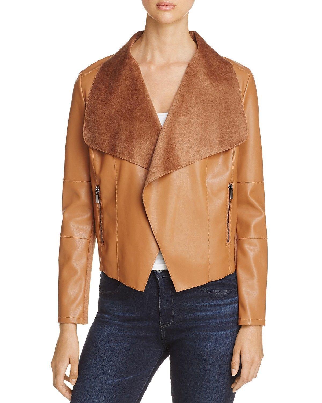 New Soft Skin Leather Shawl Collar Genuine Soft Lamb Skin Leather biker Jacket