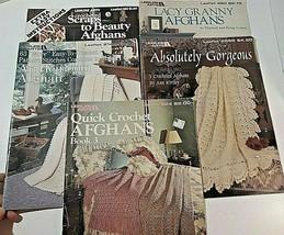 Crochet Patterns Lot 5 Leaflets 75 + Patterns Afghans Bedspreads Leisure Arts  - $29.99