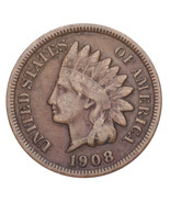 1908-S Indian Head Cent 1C Penny (Fine, F Condition) - £91.30 GBP