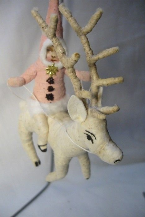 Vintage Inspired Spun Cotton, Reindeer Rider , no. 102