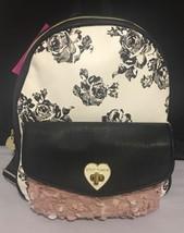 NEW Betsey Johnson Backpack Floral Heart Appliqué Shoulder Bag NWT $98. - $41.56