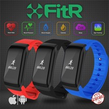 FitR™ Bluetooth App Fitness Tracker Heart Rate Blood Pressure Oxygen Mon... - $23.44